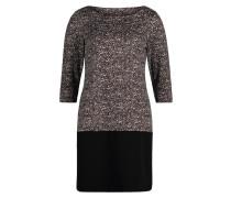 Casual-Kleid grau / schwarz / weiß