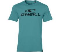 T-Shirt petrol / schwarz