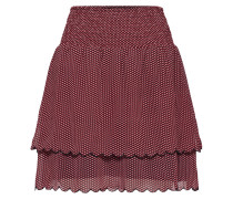 Rock 'Tiny Mini Skirt' rot / schwarz