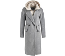 Mantel 'sanura' creme / graumeliert
