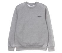 'Script Embroidery' Sweatshirt grau