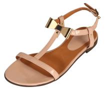 Lack-Sandale 'Easy' nude / altrosa