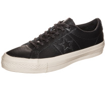 Cons One Star Leather OX Sneaker schwarz