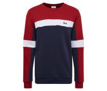 Sweatshirt 'norbin' dunkelblau / rot / weiß