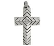 Anhänger 'Kreuz' grau / schwarz