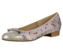 Ballerinas taupe / pink / silber
