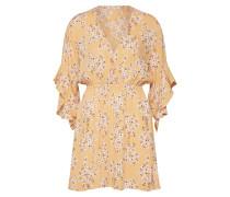 Kleid 'Love Light' gelb / naturweiß