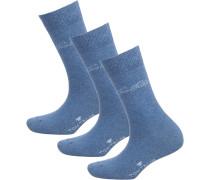 Socken hellblau / weiß