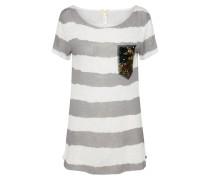 Shirt 'Johanna' hellgrau / weiß