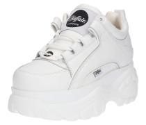 Sneaker mit Plateau weiß