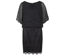 Kleid aus Chiffon und Spitze schwarz
