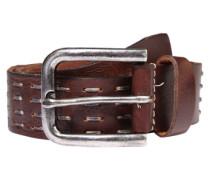 Ledergürtel 'Stitching' braun