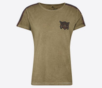T-Shirt 'MT Gang round' oliv
