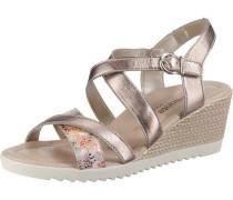 Sandaletten mischfarben / platin