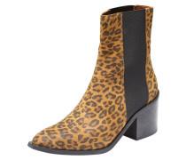 Leoparden Stiefel hellbraun