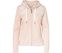 Sweatjacke rosa / weiß