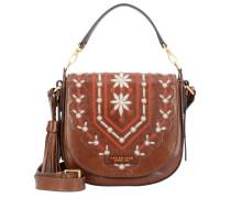 Handtasche 'Fiesole' braun / rot / weiß
