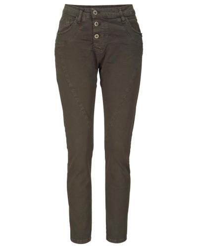 Boyfriend-Jeans »P78A« braun