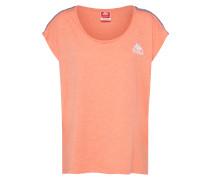 T-Shirt blau / koralle / naturweiß