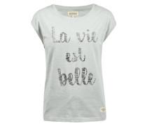 T-Shirt 'Lykke' hellgrau