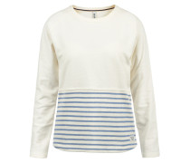 Sweatshirt 'Piper' creme / blau