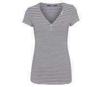 Shirt 'serafino' schwarz / weiß