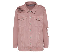 Destroyed Jeansjacke rosa