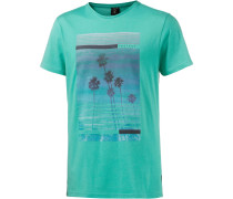 'real' T-Shirt aqua