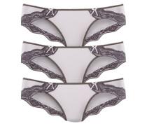 Bikinislip grau / weiß