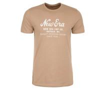 T-Shirt 'Heritage Script' camel / weiß