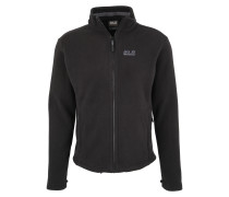 Fleecejacke 'moonrise' schwarz