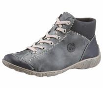 Sneaker mit Ziernähten taubenblau / grau