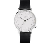 Armbanduhr 'Lewis' schwarz / weiß