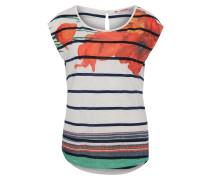 T-Shirt 'Macarena' mischfarben / weiß