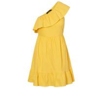 One Shoulder Kleid gelb