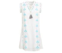 Kleid 'sassy' hellblau / dunkelpink / weiß