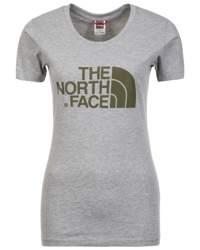 'Easy' T-Shirt Damen grau / khaki