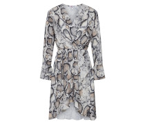 Kleid 'HL 5211' creme / braun / hellgrau