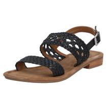 Sandale 'Sandy' beige / schwarz