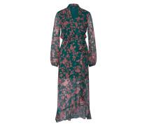 Kleid 'Justine' smaragd / rosa