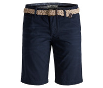 Regular Fit Chinoshorts dunkelblau
