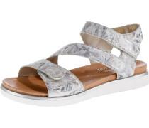 Sandale silber / rauchgrau