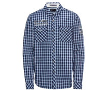 Hemd 'Shirt 1/1 check' navy / weiß