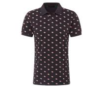 Poloshirt mischfarben / schwarz