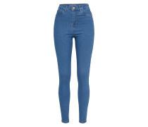 Skinny Jeans in High Waist blue denim