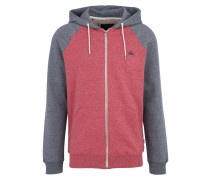 Sweatjacke 'everyday' grau / rot