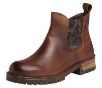 Chelsea-Boots mit Muster-Prägung braun