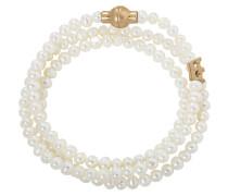 Armband 'f885' gold / perlweiß