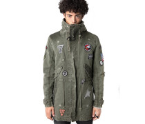Parka mit Patches ' Gabriel patch ' grün