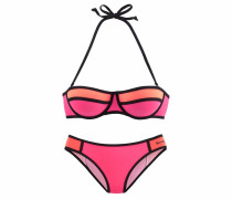 Balconette-Bikini orange / koralle / pink